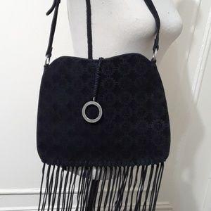 Handbags - Black Suede Shoulder Bag